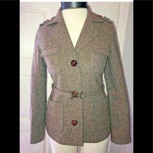 Trovata Women's Brown Lined Blazer Jacket Size S